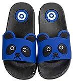 Vunavueya Enfants Pantoufles Maison Garçon Fille Tongs Chaussons d'été Chaussures Plat de Bain Sandales de Piscine Plage Dark Bleu 25/26 EU=26-27 CN