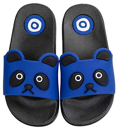 Vunavueya Enfants Pantoufles Maison Garçon Fille Tongs Chaussons d'été Chaussures Plat de Bain Sandales de Piscine Plage Dark Bleu 31/32 EU=32-33 CN