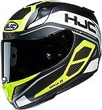 HJC Helmets Casco de moto NC RPHA 11 SARAVO MC4HSF, Negro/Blanco/Fluo, XS