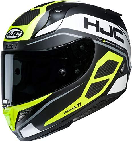 Casco de moto HJC RPHA 11 SARAVO MC4HSF, Negro/Blanco/Fluo,
