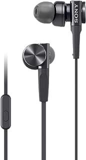 Sony MDR-XB75AP EXTRA BASS In-Ear Headphones, Black