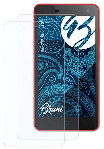 Bruni Schutzfolie kompatibel mit ZTE Blade L3 Folie, glasklare Bildschirmschutzfolie (2X)