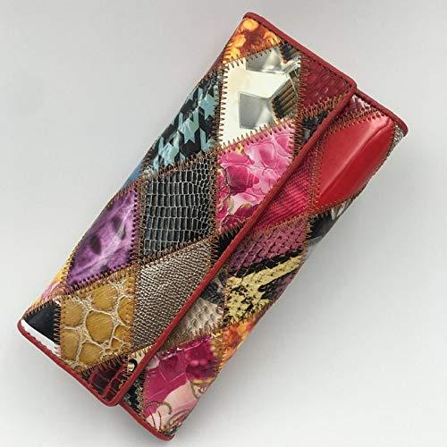Cartera multifuncional Embrague femenino PU bolsas de embrague de mujer bolso de teléfono y bolso de bolso Partido de la noche embragues de pulsera de dinero Alta capacidad ( Color : CV001rhombus )