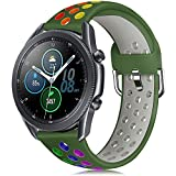 YPSNH Compatible para Samsung Galaxy Watch 3 45mm Correa de Silicona Suave de Doble Color 22mm Gear S3 Correa Reemplazo de Pulsera Deportiva para Gear S3 Frontier/S3 Classic/Galaxy Watch 46mm