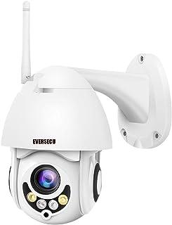 PTZ WiFi IP Camera 1080P HD H.265/H.264 Wireless Waterproof CCTV Security Dome Camera with 4mm F1.2 CS Lens 355ø Pan/ 90ø ...