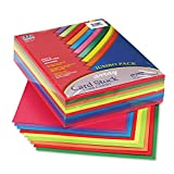 Pacon Card Stock, Colorful Jumbo Assortment, 10 Colors,  8-1/2' x 11', 250 Sheets