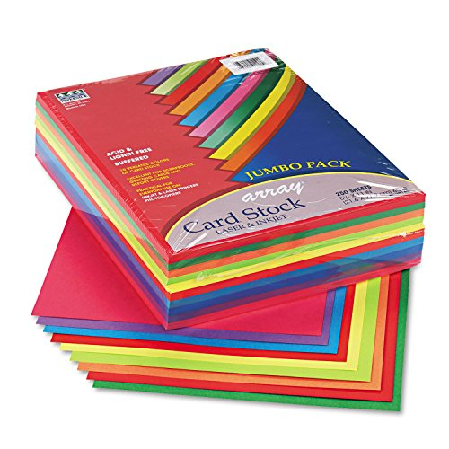 Pacon Card Stock, Colorful Jumbo Assortment, 10 Colors,  8-1/2