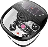 ACEVIVI Foot Spa Bath Massager with Heater, Foot Massage and Bubble Jets, Motorized Shiatsu Massage Ball and Maize Roller, Rotatable Pedicure Stone, LED Display, Relief Stress Help Sleep Home Use