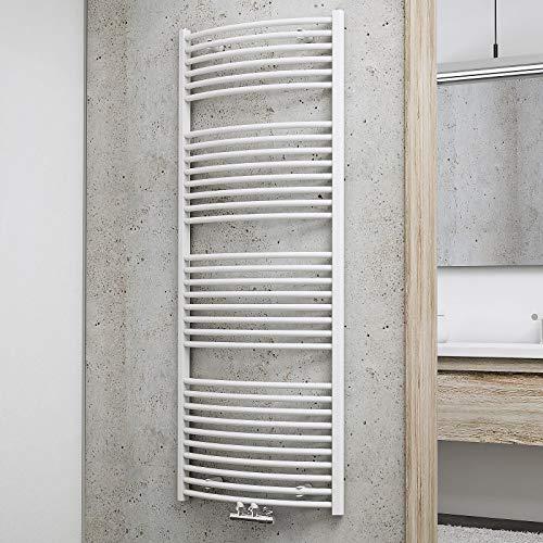 Schulte Badheizkörper Europa, 153 x 60 cm, 823 Watt Leistung, Mittelanschluss, alpinweiß, Heizkörper mit Handtuchhalter-Funktion, H281535-M 04