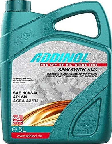 ADDINOL SEMI SYNTH 10W-40 A3/B4 Motorenöl, 5 Liter
