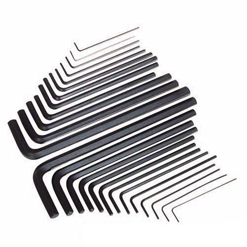 Silverline HK25L Innensechskantschlüssel, lange Bauart, 25-tlg. Satz Metrisch u. zöllig (AF)