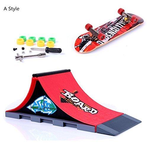 DENGHENG 8pcs Skate Park Kit Ramp Parts Fingerboard Mini Finger Skateboard Fingerboards Ultimate Parks
