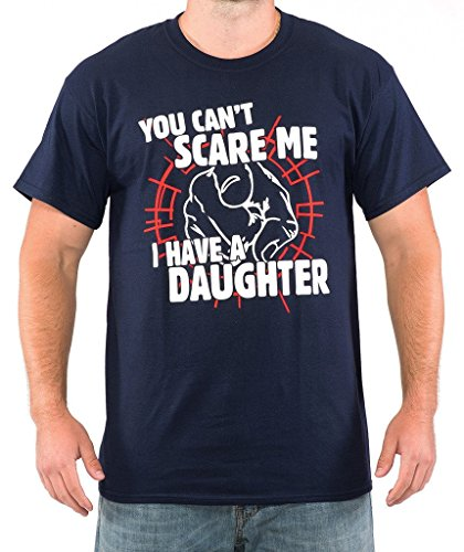SignatureTshirts Men's You Can't Scare Me I Have A Daughter T-Shirt 2XL Navy Blue