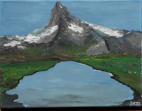 Acrylgemälde Berg Matterhorn