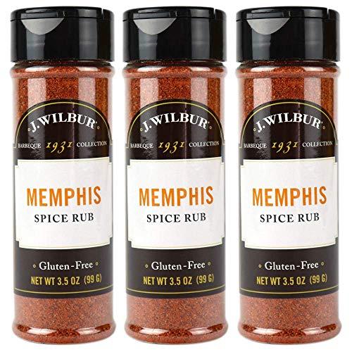 2. J. Wilbur Memphis Spice Rub, 3.5 oz, Pack of 3