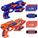 RegeMoudal 2 Pack Blaster Toy Guns for Kids with Wrist Band and Darts