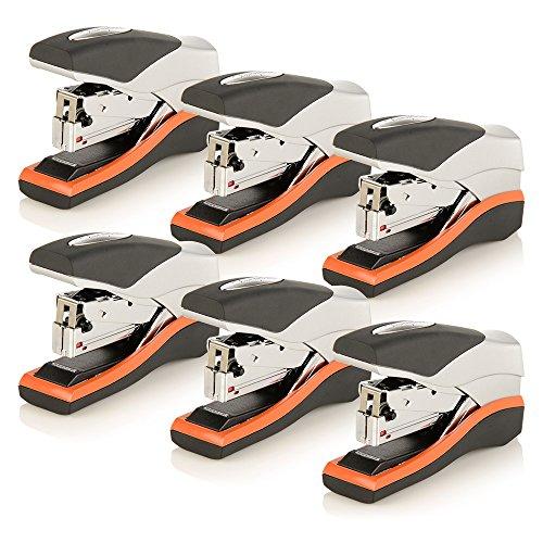 Swingline Stapler, Half Strip Desktop Stapler, 40 Sheet Capacity, Low Force, Compact Size, Office, Desk, Optima 40, Orange/Silver/Black, 6 Pack (87842) (S7087842-CS)