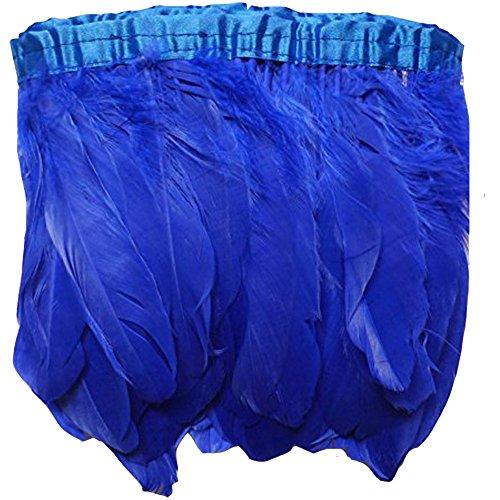 Kolight - Plumas de ganso teñidas naturales de 15 a 20 cm (15 a 20 cm) para manualidades, vestidos,...