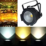 Boulder LED Stage Par Light with COB Light Source 200W Daisy Chained,warm white cool white DJ Wash Light for Party Disco Wedding Birthdays Christmas Party Show (200W)