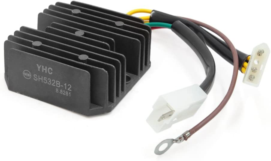 uxcell DC 12V Metal Albuquerque Mall Motorcycle Voltage BMW for Regulator F65 Sale price Fit