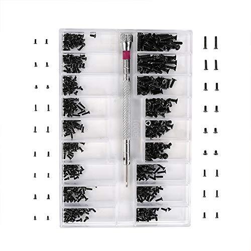 L-silite Tiny Micro Vis (500pcs), kit de réparation avec tournevis pour réparer les Lunettes, montre, bijoux, pratique, facile à transporter