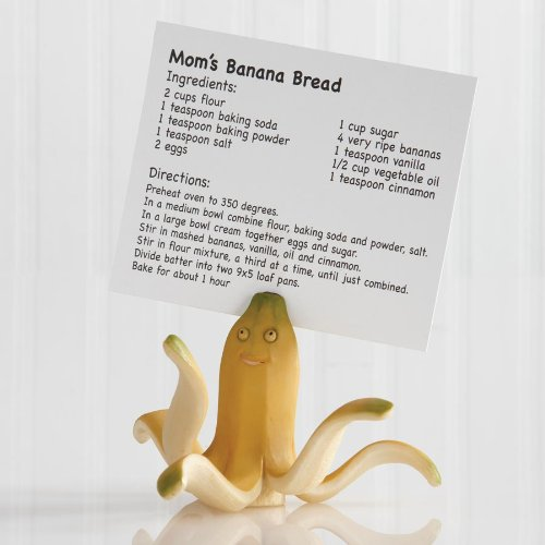 1 X Banana Octopus Recipe Card Holder by Home Grown
