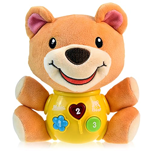Scratch Art Plüsch Musikalisches Babyspielzeug 3 6 9 12 18 Monate, Musikalisches Neugeborenes Spielzeug Jungen Mädchen Geschenke für 0-3 3-6 6-9 6-18 Monate 1-2 Jahre altes Baby Jungen Mädchen