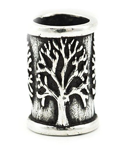 Windalf Irish Celtic Haar & Bartschmuck DARVA 14 mm Lebensbaum Kelten Haarschmuck Elfenschmuck Haarperle Bartperle 925 Sterlingsilber