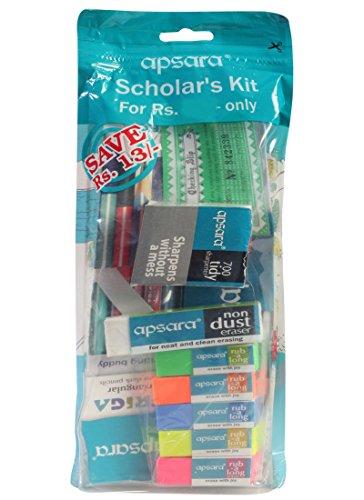 New Scholars Kit of Apsara Pencils, Erasers, Scale & Sharpner