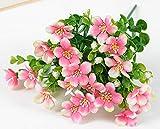 Charm4you Bouquet de Fleurs Artificielle en Pot pour Jardin,Peinture à l'huile orchidée décoration extérieure pour la Maison Fleur-Rose_8pcs,Bouquet de Fleurs Artificielle en Pot pour Jardin