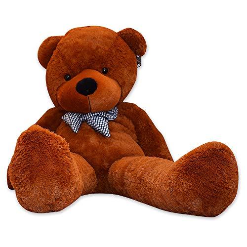 TE-Trend Bär Plüschbär Riesen Kuscheltier XXL Teddybär Riesig Large Teddy Bear Plüschteddy 200 cm Dunkelbraun Braun