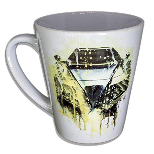 Alfa - Unikat Handarbeit Designer Tasse aus brillanten Porzellan - Tasse, Becher, Kaffeetasse, Teetasse Keramik Tasse, 330ml, Geschenk für Freunde