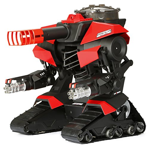 New Bright M.E.C.H. Shooting Robo Cannon R/C Vehicle, Black/Red