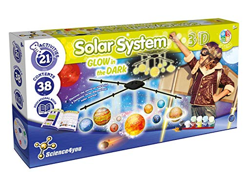 Science 4 You SY613034.0035 Solarsystem 3D GITD, STEM Science Spielzeug Kit für Kinder ab 8 Jahren, Mehrfarbig