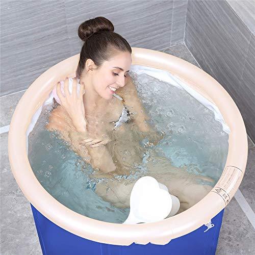 Bad Erwachsene Klappspüle, aufblasbares Bad Tragbare Badewanne, Kunststoff-Badewanne, Whirlpool, Massage-Badewanne Dicker Kunststoff Eimer Bad Abdeckung Waschbecken