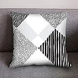 NEEKY Taie d'oreiller Linge de Literie Pas Cher 2019 Mode Canapé-lit Accueil Décoration Coussin Couverture Géométrique Noir...