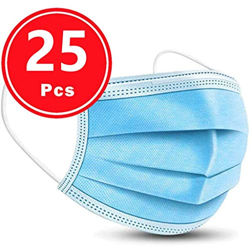 For Sale! Dis-posable Face Bandana Non Woven 3-Layer Elastic Ear Loops Mouth Nose Covering for Adult...