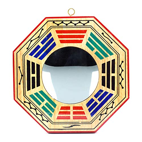 better us 6 Inch Chinese Bagua Mirror Feng Shui Wood...