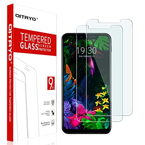 QITAYO [2 Stück] Panzerglas Schutzfolie für LG G8s ThinQ [2.5D Rand][Blasenfrei] [Anti vor Fingerabdruck] [Schutz vor Kratzer] [Einfache Installation] LG G8s ThinQ Folie Glas Bildschirmschutzfolie