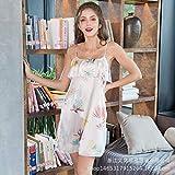 Handaxian Pijama Mujer Summer Sling Camisón Simulación Seda Estudiante Primavera Otoño Servicio a Domicilio