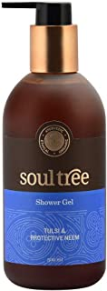 SOULTREE All Natural Tulsi & Protective Neem Shower Gel | Organically Farmed Ingredients | Body Wash for men and women | C...