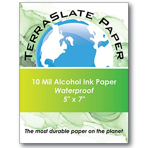 NARA Paper for Alcohol Ink Painting 200 GSM, Medium Paper, 6 Circle