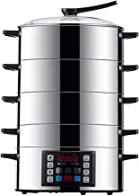 cuiseur vapeur Ménagers multifonctions vapeur, 304 en acier inoxydable Grande Capacité de cuisson rapide électrique à vape...