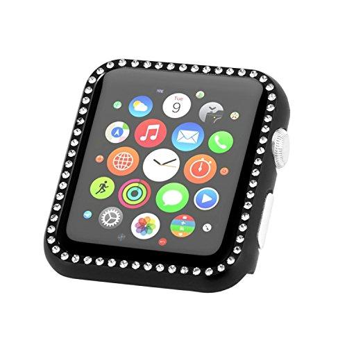 Case Compatibel met Apple Watch 4 Protector iWatch Ultra-Thin Cover Series Hardware boor 360 graden horloge case, black, 40 mm.