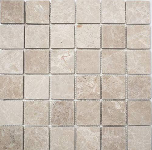Mosaik Fliese Marmor Naturstein elfenbein Botticino Antique Marble MOS36-0106
