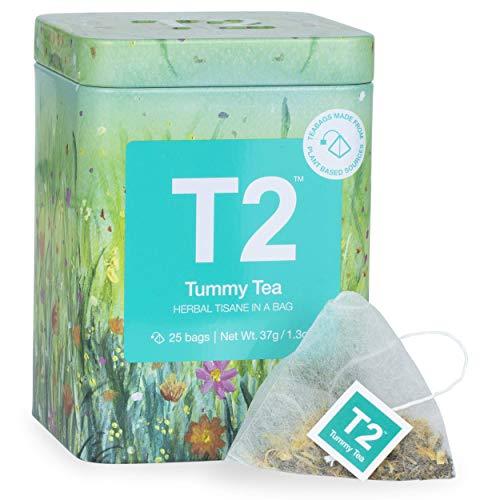 T2 Tea Tummy Herbal Tea Bag in Icon Tin, 37 g