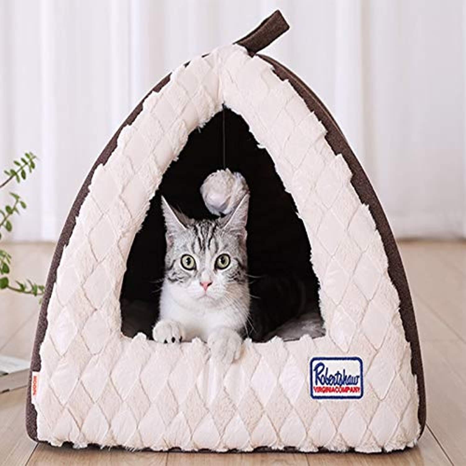 Hxyan Kennel Removable And Washable Small And Mediumsized Dogs Semienclosed Pet Cat Bed Four Seasons Universal 40  40  34cm