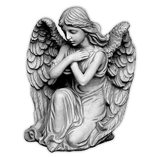 gartendekoparadies.de Liebevolle Engel Figur Gartenfigur aus Steinguss frostfest Grabdeko