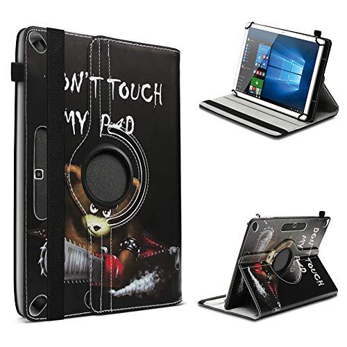 UC-Express Tablet Hülle kompatibel für Odys Space One 10 Tasche Schutzhülle Cover Schutz Hülle 360° Drehbar Klapphülle, Farben:Motiv 1