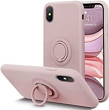 KUMEEK for iPhone Xs/X Case Fingerprint | Kickstand | Anti-Scratch | Microfiber Liner Shock Absorption Gel Rubber Full Bod...